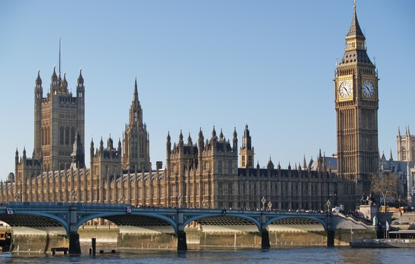 Picture bridge, river, London, london, ben, big