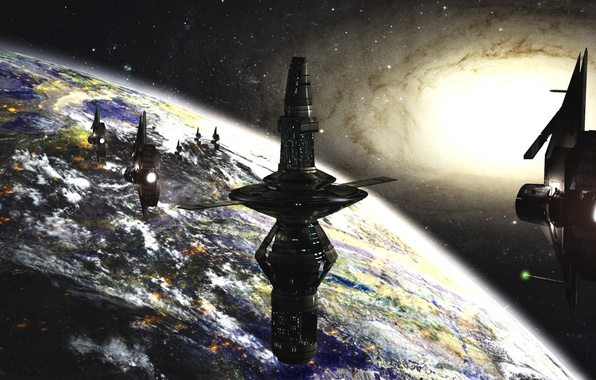 Picture space, future, planet, ships, stars, galaxy, space, station, stars, sci-fi, planet, galaxy, ships, science fiction, …