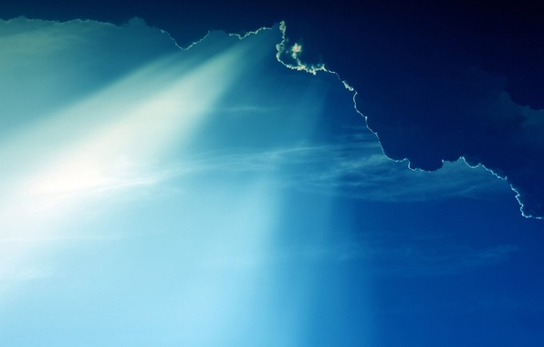 Picture clouds, light, landscape, heaven, the rays of the sun