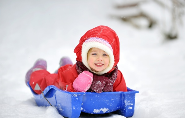 Picture winter, children, new year, child, Christmas, girl, christmas, new year, happy, winter, child, children, little ...