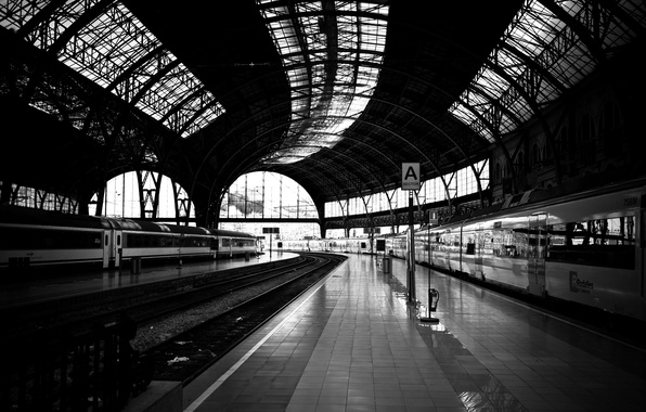 Picture road, the way, photo, white, train, station, black, iron, platform, wallpapers