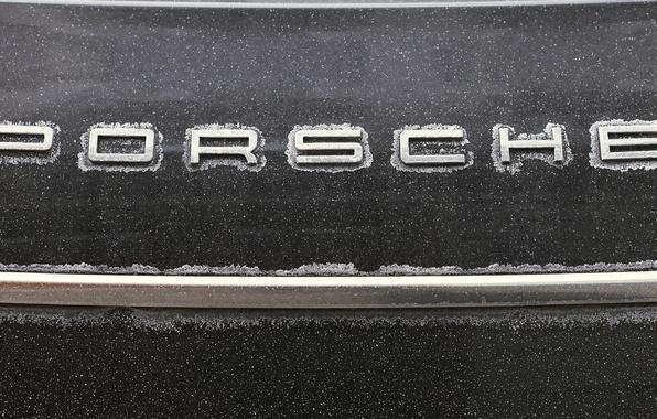 Picture machine, snow, snowflakes, metal, strip, Porsche