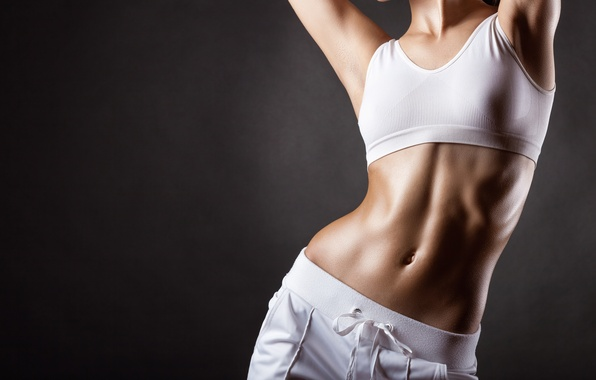 Picture pose, lean, perspiration, toned body