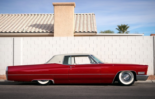 Picture retro, Cadillac, classic, Coupe, 1968, DeVille