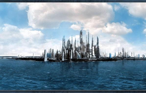 Picture sea, future, fiction, Atlantis, Atlantis, movies, Stargate, Stargate