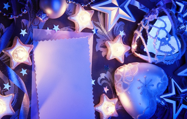 Picture paper, tape, twilight, Christmas decorations