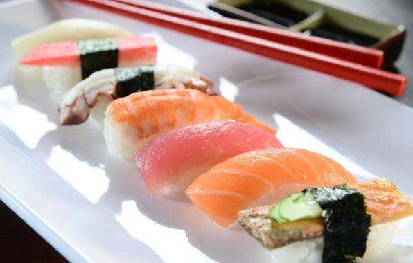 Picture fish, rolls, sushi, sushi, fish, rolls, Japanese cuisine, Japanese cuisine