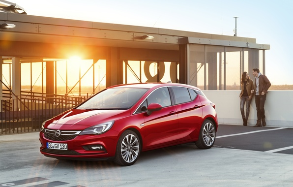 Photo wallpaper Opel, Astra, Opel, Astra, 2015