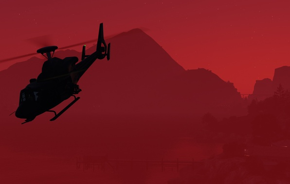 Picture background, helicopter, gta, Grand Theft Auto V