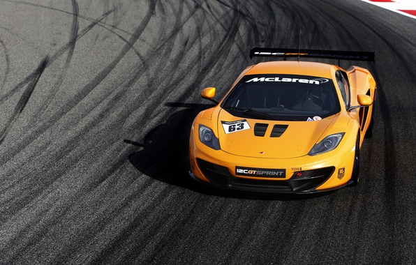 Picture machine, McLaren, front view, MP4-12C, McLaren, Sprint