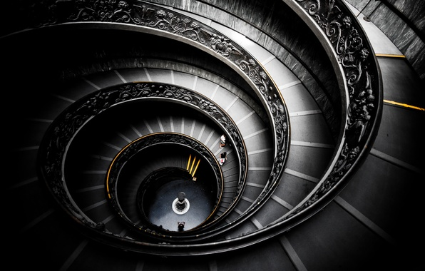 Picture design, spiral, structure, stairs, Museum, helix, to spiral, stairway, spiral staircase, to go around, nutrena, …
