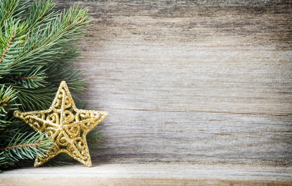 Picture decoration, New Year, Christmas, star, Christmas, wood, decoration, Merry