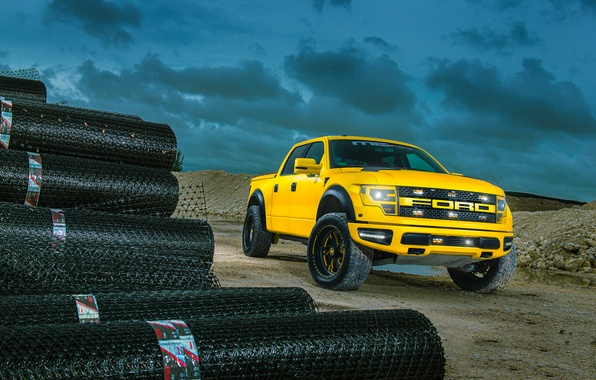 Picture Ford, Yellow, F-150, RaptorTrax, Sub-Machine, MC Customs