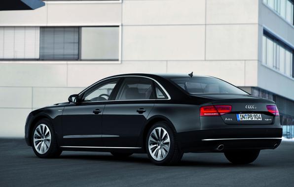 Picture Audi, Black, Machine, Door, Room, A8L, The trunk