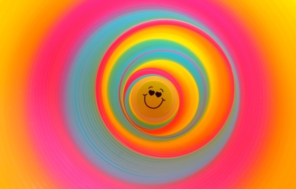 Picture abstract, fun, colour, circle, slinky