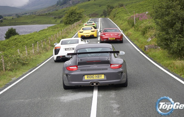 Picture road, Mercedes-Benz, Lamborghini, Lexus, 911, Porsche, Ferrari, Mercedes, Lexus, Top Gear, Ferrari, Superleggera, Gallardo, Porsche, …
