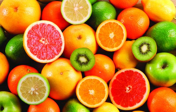 Picture oranges, kiwi, fruit, lemons, grapefruit