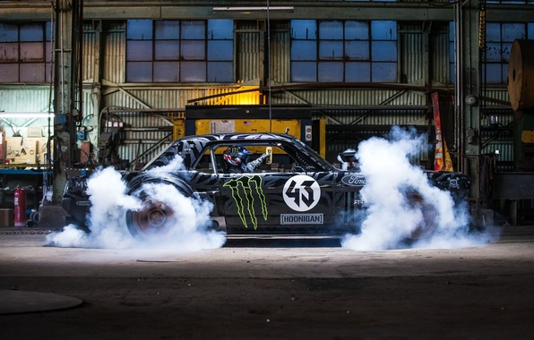 Picture Mustang, Ford, Front, 1965, RTR, Side, Smoke, Block, Ken, Gymkhana, Hoonicorn, SEVEN, 845 hp