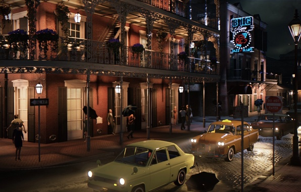 Picture auto, the city, people, the game, Mafia III, open world, Mafia 3