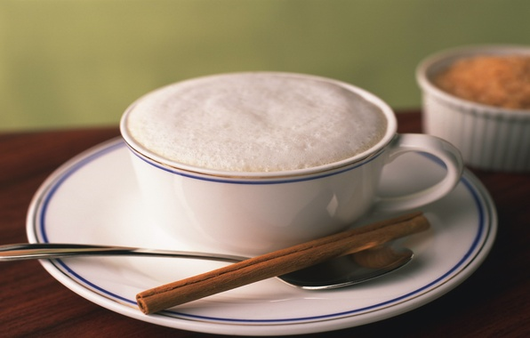 Picture white, mood, spoon, Cup, cappuccino