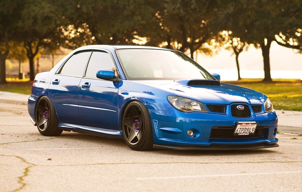 Picture tuning, before, blue, subaru impreza, Subaru, wrx sti