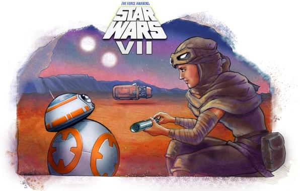 Picture girl, star wars, droid, kira, Star Wars: Episode VII - The Force Awakens, Star wars. …