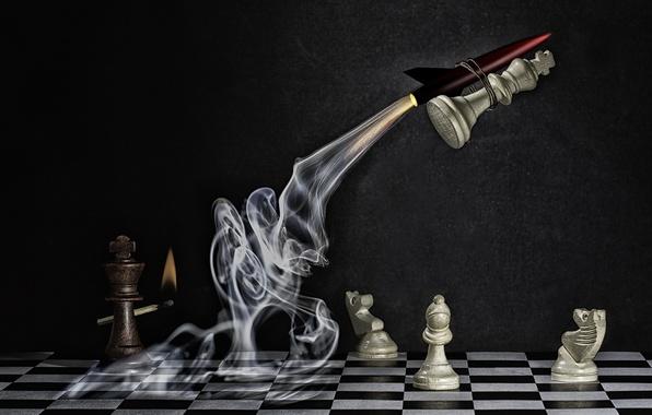 Picture chess, figure, Explosive Checkmate
