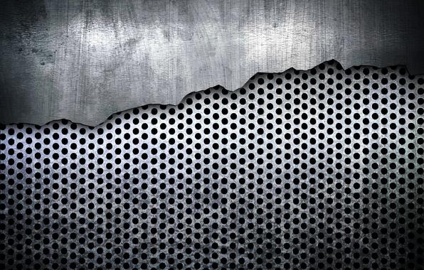 Picture grey, steel, texture, metal