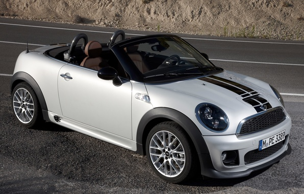 Picture Road, Machine, Grey, Mini Cooper, MINI, Mini Cooper