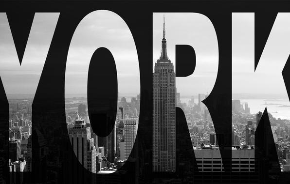 Picture the city, skyscraper, New York, black and white