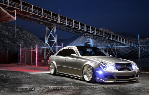 Picture car, Mercedes Benz, tuning, Stance, E350