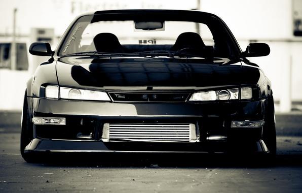Picture black, Silvia, Nissan, black, Nissan, Sylvia, S14