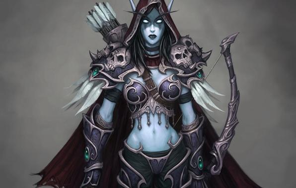 Picture girl, undead, wow, undead, world of warcraft, queen, Silvana, Banshee, the leader, Sylvanas, horde, Horde, …