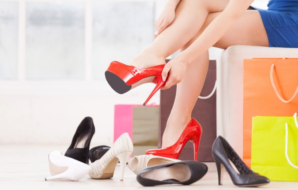 Picture heels, purchase, women's shoes