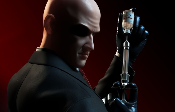 Wallpaper Bald Hitman Killer Assassin Killer Agent 47 Hitman