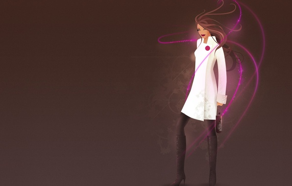 Picture Girl, minimalism, vector, glamour