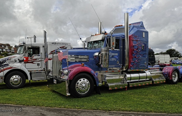 Picture trucks, HDR, Kenworth