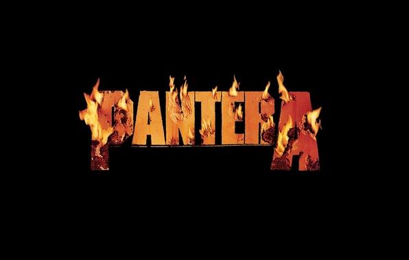 Photo Wallpaper Metal Music Burning Band Pantera Flame Logo