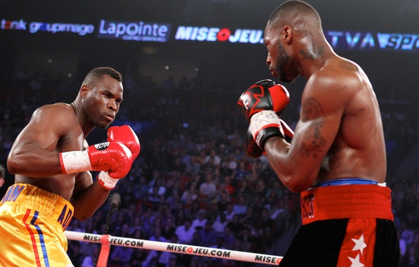 Picture Boxing, blow, the ring, the fight, Adonis Stevenson, in the blink of an eye, Chad …