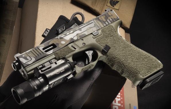 Photo Wallpaper Austrian Self Loading Weapons Glock 17 Gun