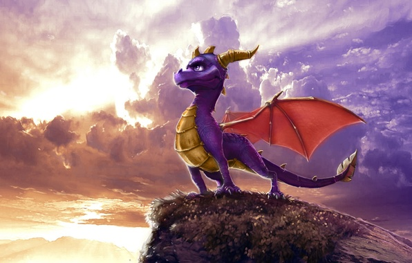 Picture clouds, dragon, figure