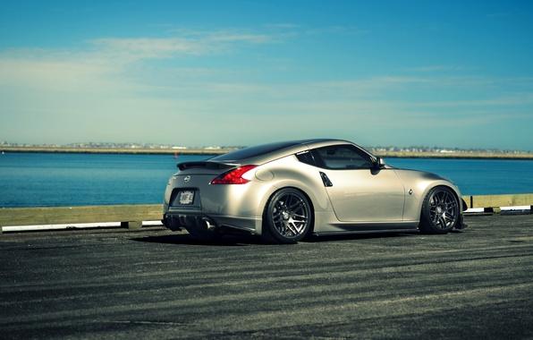 Picture silver, Nissan, sports car, metallic, Nissan, 370z, JDM, rearside