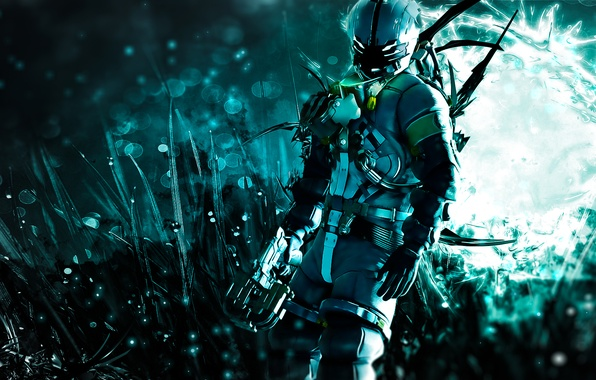 Picture weapons, abstraction, video game, shooter, dead space 3