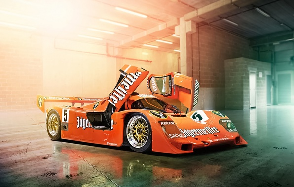 Picture The Mans, Porsche, Orange, Cars, Day, Track, 956