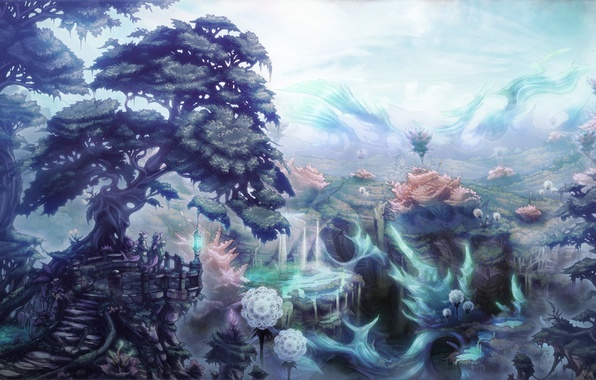 Picture trees, plants, art, creatures, fantasy world