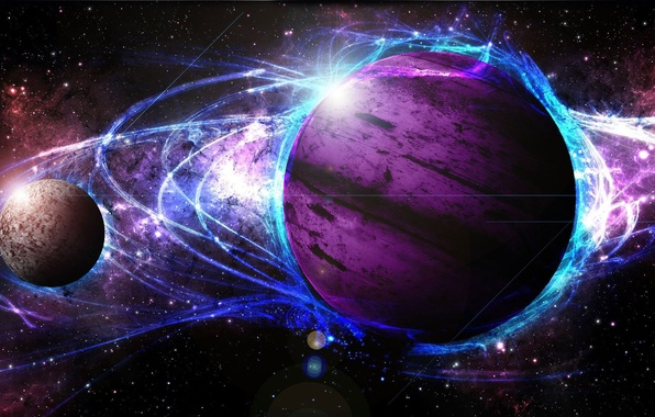 Picture light, star, cosmos, energy, planet, galaxy