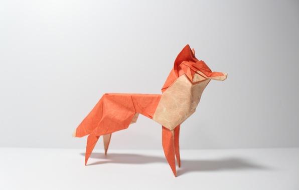 Picture paper, Fox, origami