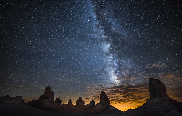 Picture space, stars, night, nature, the milky way