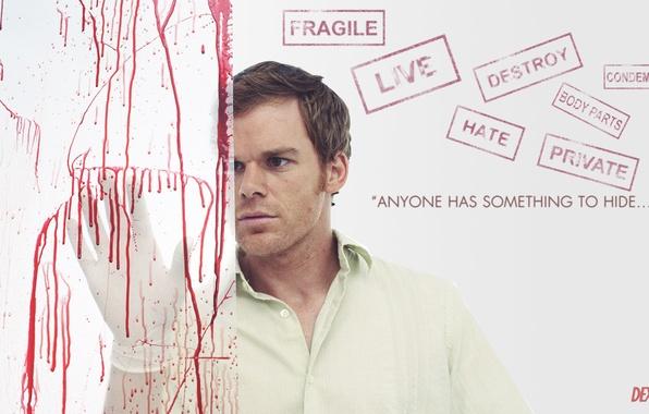 Picture blood, maniac, Dexter, the series, killer, Dexter, Michael C. hall