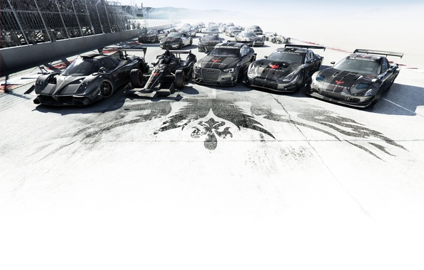 Picture road, the sky, machine, Audi, sign, track, Audi, Mercedes, Nissan, Mercedes, GT-R, sports car, cars, …